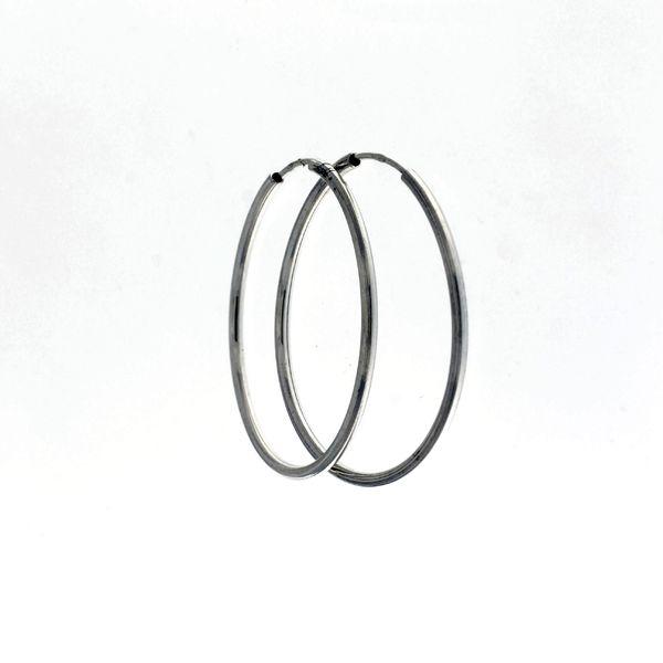 Сребърни обеци без камъни 112140