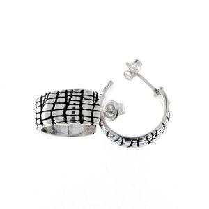 Сребърни обеци без камъни 131142
