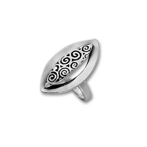 Сребърен пръстен без камък 1565955