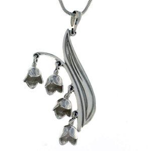 Висулки от сребро без камък - 180140