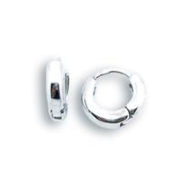 Сребърни обеци без камъни - 126094