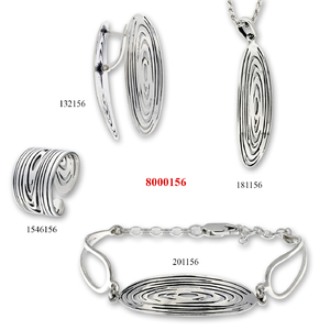 Сребърни бижута - комплект 8000156