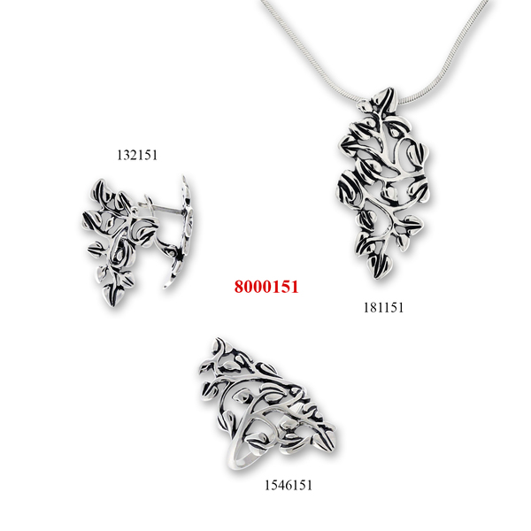 Сребърни бижута - комплект 8000151