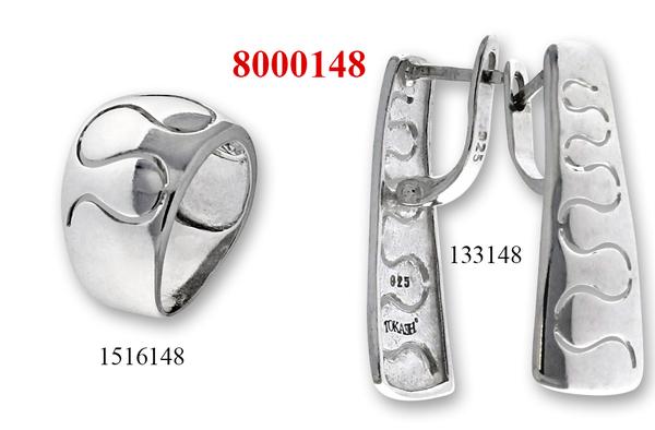 Сребърни бижута - комплект 8000148