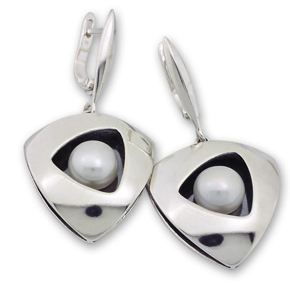Обеци уникати от сребро и полускъпоценни камъни 8901112