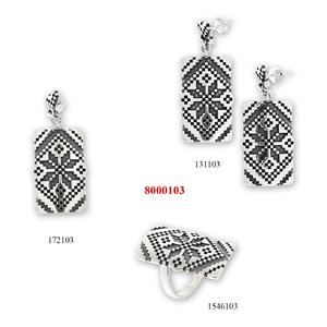 Сребърни бижута - комплект 8000103