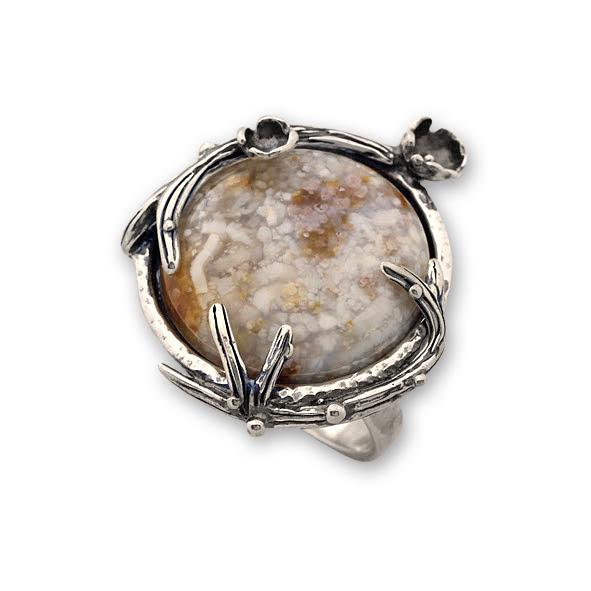 Пръстени  уникати от сребро и полускъпоценни камъни 8905149
