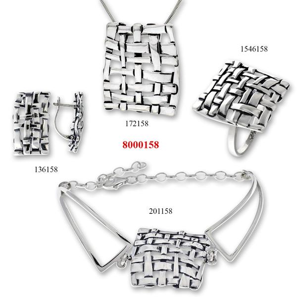 Сребърни бижута - комплект 8000158
