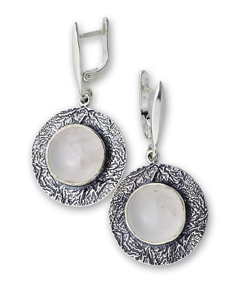Обеци уникати от сребро и полускъпоценни камъни 8901092