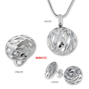 Сребърни бижута - комплект 8000152