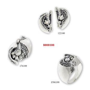 Сребърни бижута - комплект 8000100