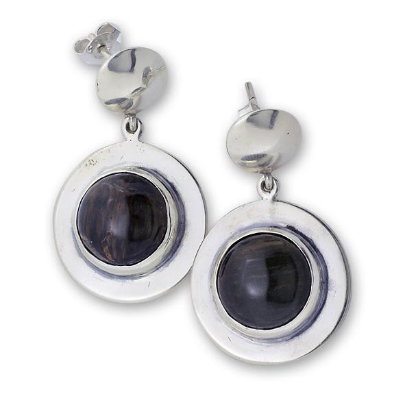 Обеци уникати от сребро и полускъпоценни камъни 8901008