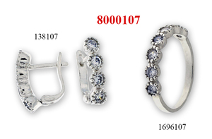 Сребърни бижута - комплект 8000107
