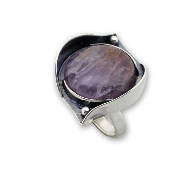 Пръстени  уникати от сребро и полускъпоценни камъни 8905196