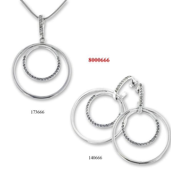 Сребърни бижута - комплект 8000666