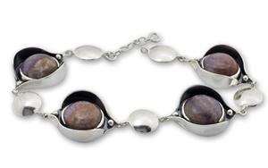 Гривни уникати от сребро и полускъпоценни камъни 8902196