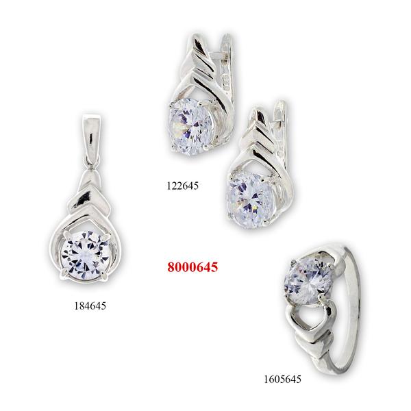 Сребърни бижута - комплект 8000645