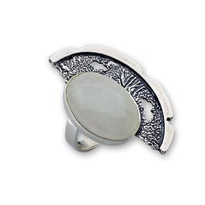 Пръстени  уникати от сребро и полускъпоценни камъни 8905015