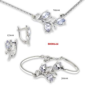 Сребърни бижута - комплект 8000644