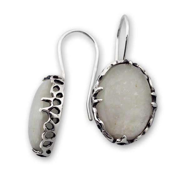 Обеци уникати от сребро и полускъпоценни камъни 8901153