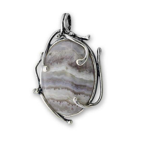 Висулки  уникати от сребро и полускъпоценни камъни 8903152