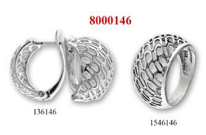 Сребърни бижута - комплект 8000146