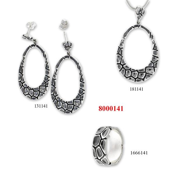 Сребърни бижута - комплект 8000141