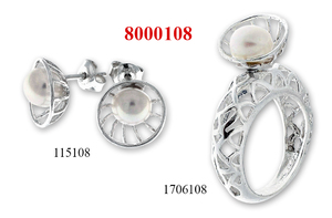 Сребърни бижута - комплекти - 8000108