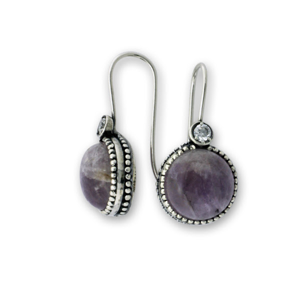 Обеци уникати от сребро и полускъпоценни камъни 8901221