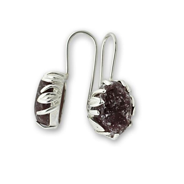 Обеци уникати от сребро и полускъпоценни камъни 8901209