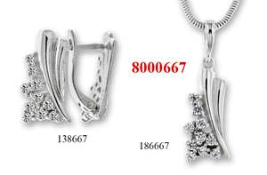Сребърни бижута - комплект 8000667