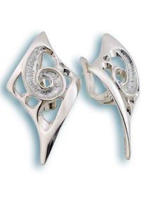 Сребърни обеци без камъни - 132770