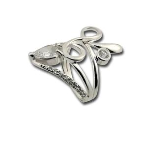 Пръстени с камък от сребро - 1615821
