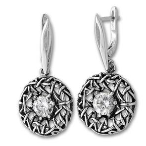 Oбици с камъни от сребро - 130928