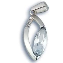 Висулки от сребро с камък - 173790