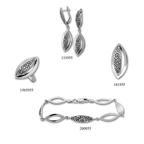 Сребърни бижута - комплект 8000955