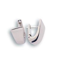 Сребърни обеци без камъни - 132096