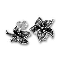 Сребърни обеци без камъни - 111940