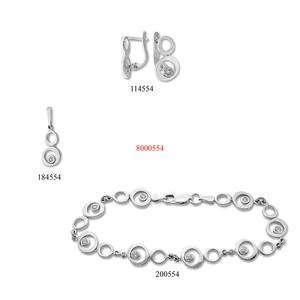 Сребърни бижута - комплект 8000554