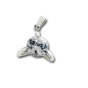 Висулки от сребро с камък - 182816