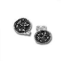Сребърни обеци без камъни - 133864
