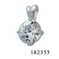 Висулки от сребро с камък - 182353