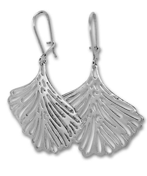 Сребърни обеци без камъни 131269
