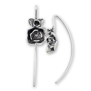Сребърни обеци без камъни - 133286