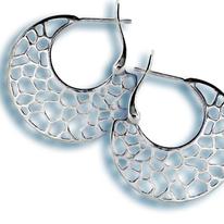 Сребърни обеци без камъни 132351