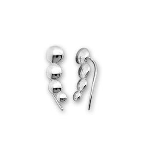 Сребърни обеци без камъни - 133034