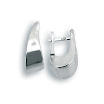 Сребърни обеци без камъни - 131167