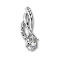 Висулки от сребро с камък - 186026