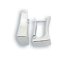 Сребърни обеци без камъни - 132117