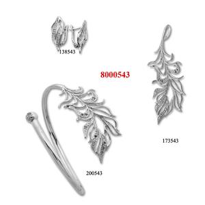 Сребърни бижута - комплект 8000543